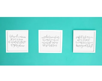 Blessed Assurance, Jesus is Mine - Set of 3 Prints