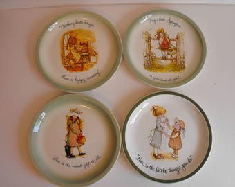 Four Holly Hobbie Collector Plates    (1008)