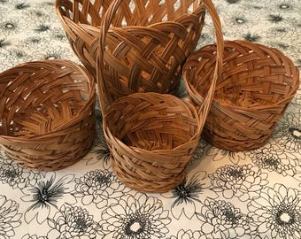 Boho Wicker Basket Set