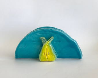 Napkin Holder with Pear