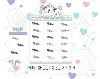 Mini Size Feather planner Stickers --- Mini #20