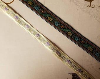 Vintage French Jacquard Ribbon chokers