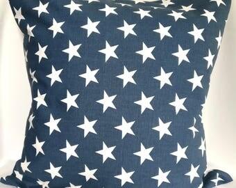 SALE Pillow covers Blue and white Geometric Pillow case, blue star pillow, Decorative Pillows 18x18, 16X16, 14x14, 12x12, 10x10