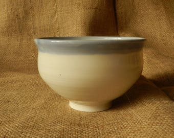 Porcelain Bowl. Hand Thrown.