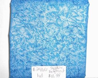 Fabric - 1yd piece- Sapphire (Blue) Fairy Frost  D#CM 0376/Michael Miller (#2466)