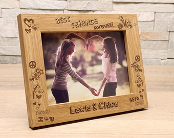 Best Friend Forever 7x5 Personalised Photo Frame.