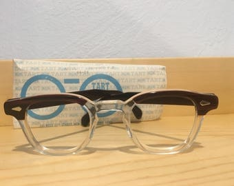 Vintage Tart Arnel Redwood Eyeglasses CB Tart Optical 44-24 NOS Johnny Depp