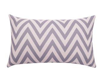 Chevron lumbar pillow covers Stripe decorative pillow cases Modern waist cushion cover Rustic cushion case Home decor gift 12x20