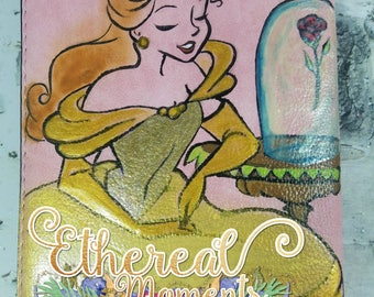 Belle hand painted wallet - Belle hand painted art - beauty and the beast art
