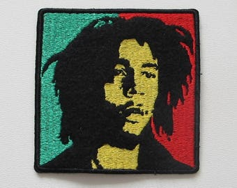 BOB MARLEY --- Embroidered Patch / Reggae UB40 Steel Pulse Toots and The Maytals Sublime Black Uhuru Third World Aswad Peter Tosh Lucky Dube