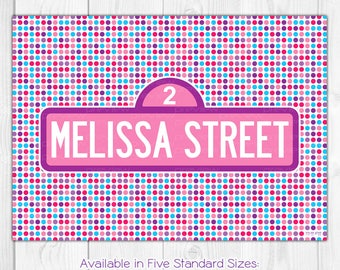 Street Sign - Personalized Birthday Backdrop Banner Poster Door Sign Dessert Table  sc 1 st  Etsy & Abby door sign | Etsy