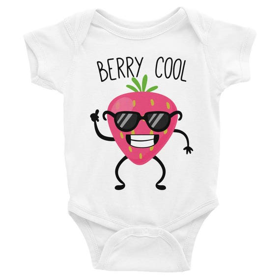Berry Cool Funny Onesie Bodysuit Funny Onesies Baby Boy Clothes Funny Baby Gift Cute Baby Clothes Funny Baby Clothes Cute Baby Onesies