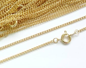 22ct Gold Plated Necklace Curb Chain 18 Inch 4PC 10PC