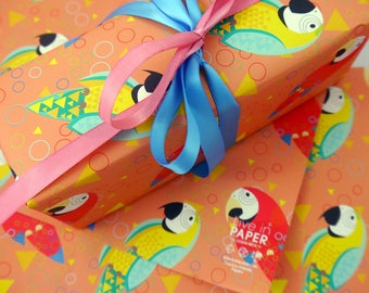 Colorful Macaws Eco-Friendly Wrapping Paper