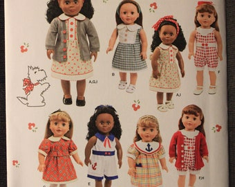 Simplicity 1443   Elaine Heigl Designs   18 in Doll Clothes