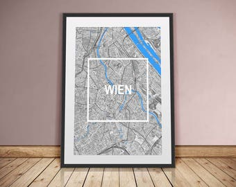 VIENNA-framed city-digital printing