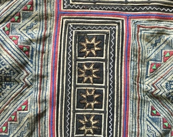 Vintage tribal Hmong batik fabric in Mu Cang Chai village,north of Vietnam