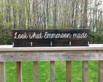 Look What I Made Sign - Childrens Art Display - Playroom Wall Art - Baby Shower Gift - Kids Art Display Sign - Look What We Made - Wood Sign