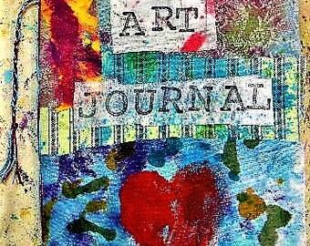 Art journal, blank journal, blank book, watercolor paper, creativity, handmade journal