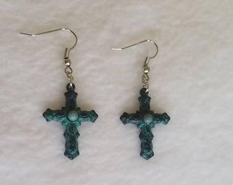 Handmade Cross Earrings