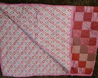 Handmade small baby quilt