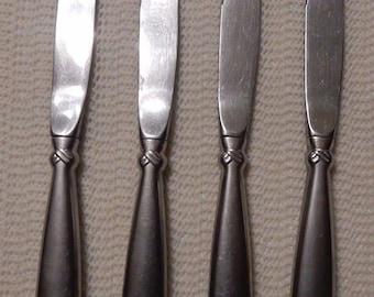 Oneida Stainless RAttan Four Dinner Knives