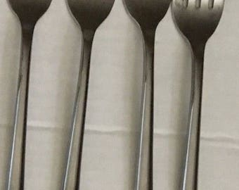Towle Stainless Wave Four Salad Forks