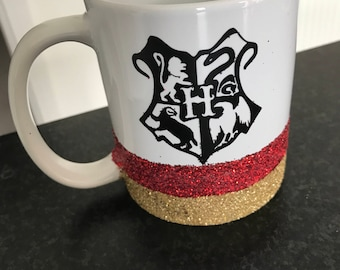 Harry Potter Inspired Glitter Mug