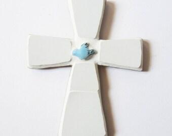 Mosaic baptism cross