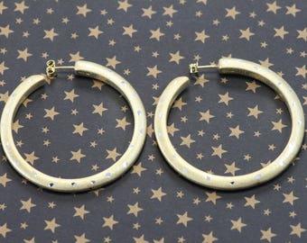 Sterling Silver Hoops, Lg silver hoops, Italian earrings