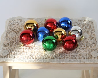 Assorted Glass Ornaments Vintage Christmas Ornament holiday decor