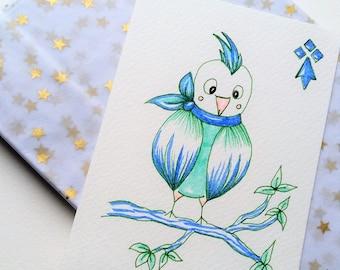 Carte postale Rock l'oiseau breton