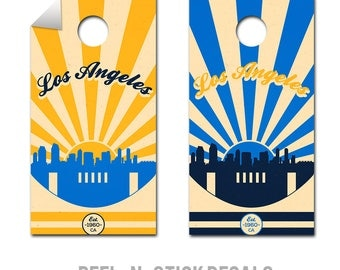 Los Angeles Chargers Cornhole Board Decals