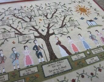 My Family Tree Cross Stitch Pattern (HARD COPY)