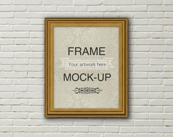 8 x 10 inch mockup, 16 x 20 inch mockup, frame mockup, 4:5 aspect ratio, digital frame, gold frame mockup, poster mockup, instant download