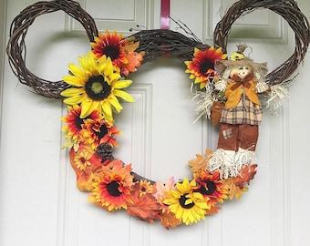 Scarecrow mickey wreath