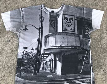 Men's Obey All Over Print Andre The Giant Poster/City T-Shirt