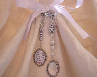 Personalised Bridal Bouquet Photo Frame Memory Charm Wedding Day Poem Memorial