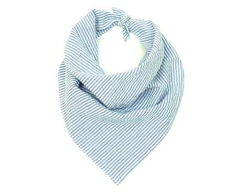 BANDANAS | White & Blue Stripes Bandana | FASHION Accessories | ALPHONSINA