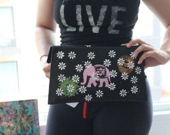 Painted Black Clutch