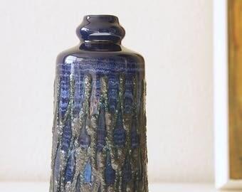 Mid Century Fat Lava vase, made by Strehla, Germany