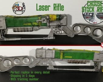 Laser Rifle Fallout 3 Replica AER9 with micro fusion cell removal ***high quality***