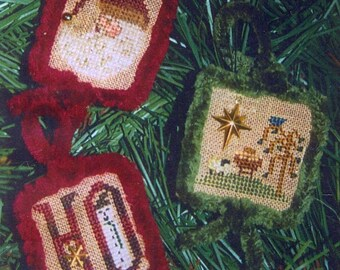 1/2 Price Winter Teenies II w/Chenille Trim and Charms by Homespun Elegance Counted Cross Stitch Pattern/Chart