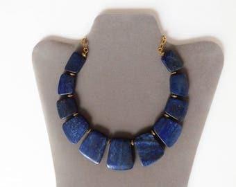 Genuine lapis lazuli one of a kind necklace