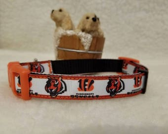 Bengals Football Handmade Dog Collar 5/8 Inch Wide