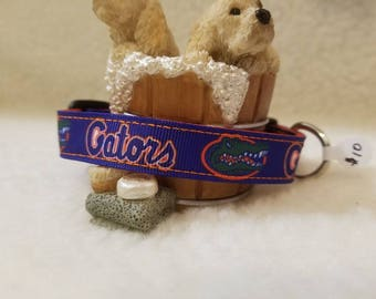 Gators Handmade Dog Collar 5/8 Inch Wide Medium & Small