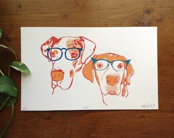 Nerd Dogs Print