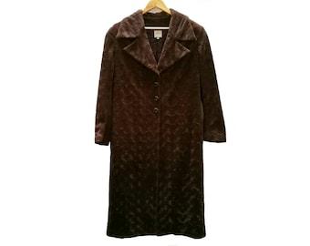 Furry COAT//vintage clothing//calamity//vintage//faux fur//classy//brown//rare vintage//MADE in Spain//vintage fur/Sale