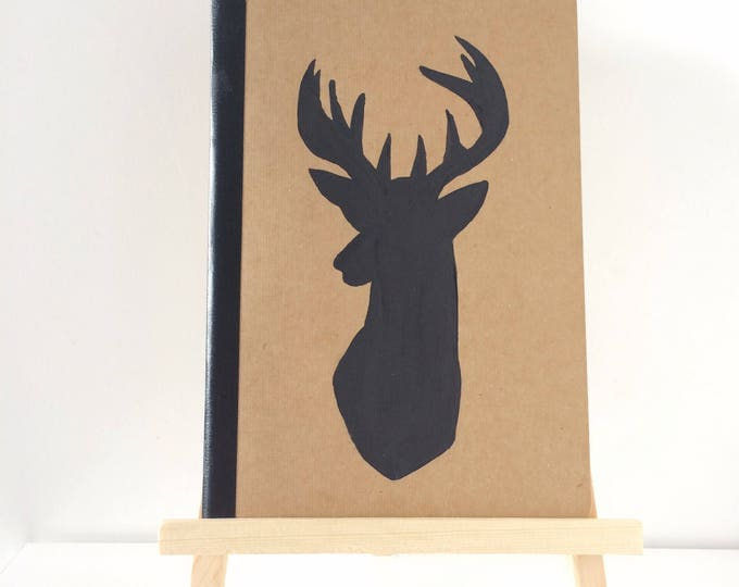 Featured listing image: Handpainted Stag Notebook