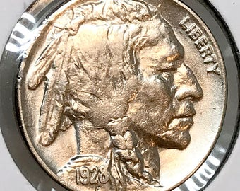 1928 P Buffalo Nickel - Choice BU / MS / Unc